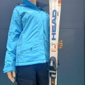 Blauwe Ski Jas Dames Voorkant